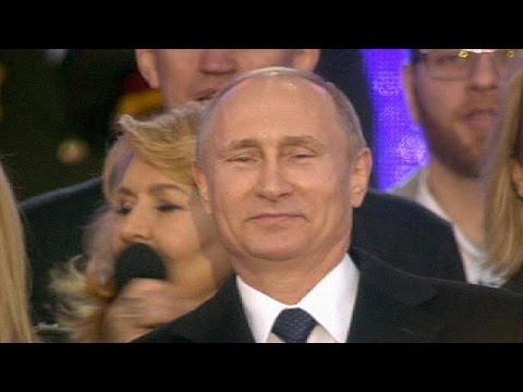 Russia celebrates Crimea takeover - no comment