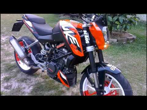 KTM Duke 200 with Akrapovic
