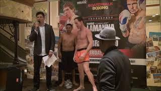 LaManna vs Bracero weigh in, Feb 23, 2018