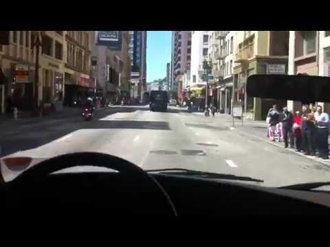 Cumhurbaşkanı konvoyu ile San Francisco sokakları