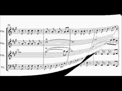 Viva La Vida -STRING QUARTET/ ENSEMBLE ARRANGEMENT- score video