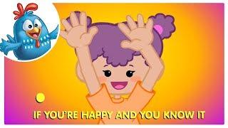 If You're Happy Song | Lottie Dottie Chicken | Nursery Rhymes For Kids