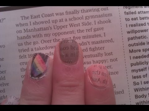 Newspaper Nails with Magazines! (with WATER!)