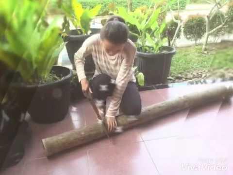 Cara membuat bingkai foto dari bambu (tugas kwu xi mia 6)
