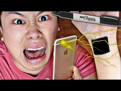 DANGEROUS IPHONE TASER HACK!!!