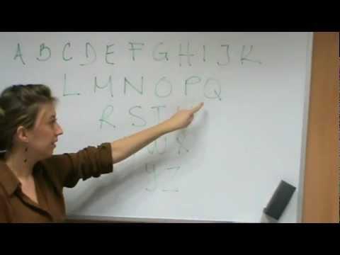 Cómo pronunciar el Abecedario en Francés.