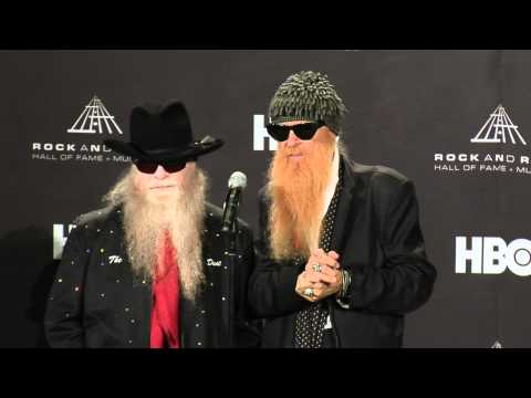 Billy Gibbons and Dusty Hill of ZZ Top on 2012 Hall of Fame Inductee Freddie King