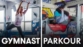 Gymnasts Try to Keep Up With Parkour Experts | SELF
