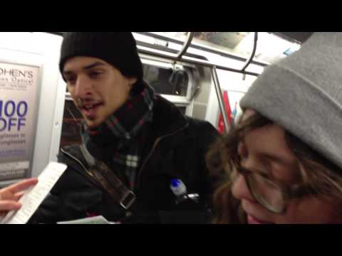 Train caroling 4 (Jingle Bell parody & God Rest Ye, MTA Chairman)