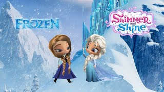 Shimmer and Shine Color Episode Disney Frozen Queen Elsa and Anna