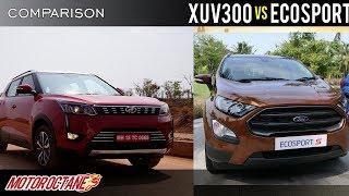 Mahindra XUV300 vs Ford Ecosport Comparison   Hindi  MotorOctane
