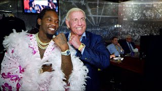 "Offset shows off ""Ric Flair drip"" backstage at SmackDown LIVE: WWE Exclusive, Sept. 17, 2019"