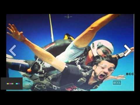Karan Wahi skydives in Dubai