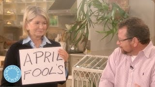 Marthas Prank on Warm Up Artiste, Joey Kola - April Fools Day - Martha Stewart