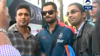 Little fan asks Raina and Virat 'Chachu' to win the World Cup 2015