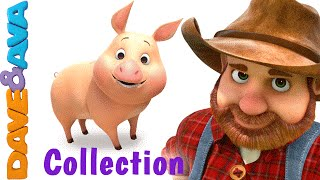 Old MacDonald Had a Farm | Animal Sounds Song | Nursery Rhymes & Baby Songs Collection Dave and Ava