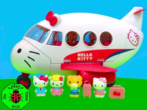 HELLO KITTY AIRLINE PLAYSET | itsplaytime612 Unboxing Toys Play