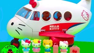 HELLO KITTY AIRLINE PLAYSET Toys Review | itsplaytime612