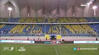 تيفو جماهير النصر في مباراة النصر و الاهلي في الجولة 6 من دوري جميل