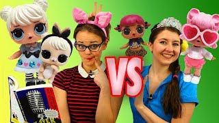 LOL Surprise Dolls Theater Club vs Storybook Club Games with Curious QT, TBTV Kelsey and Jessie!