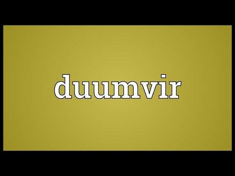 Header of duumvir