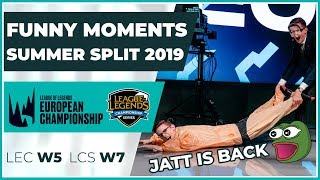 Funny Moments - LCS week 7 & LEC week 5 - Summer Split 2019