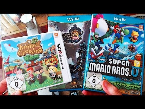 Ausgepackt! #25 ~ Animal Crossing (Premium Edition) / New Super Mario Bros Wii U / Monster Hunter 3