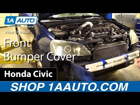 How to Remove Install Front Bumper Cover 2001-05 Honda Civic