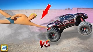 RC Car VS Stretch Armstrong!!