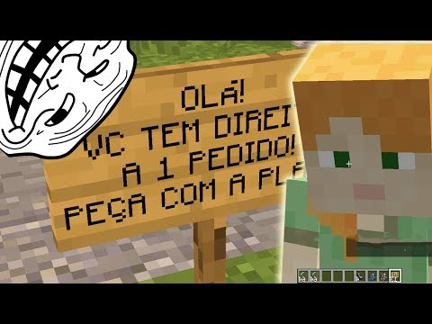 REALIZANDO PEDIDOS! MODO CRIATIVO?! Trollando Players no Minecraft