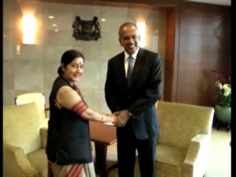 India's foreign minister meets Singapore prime minister to bolster ties
