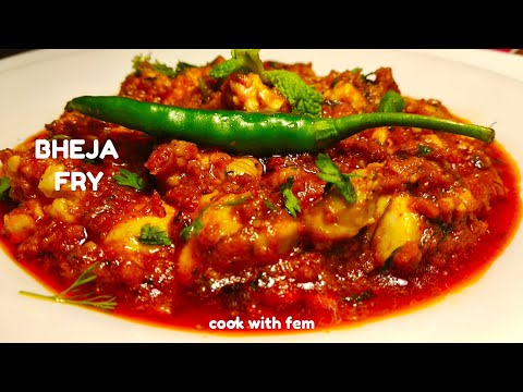 Bheja Masala Fry | With Secret Tip To Reduce It's Smell | भेजा मसाला फ्राई | Fried Bheja - Eng Subs