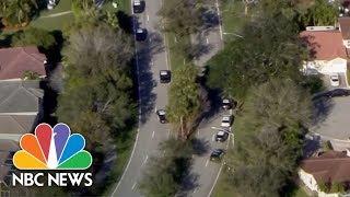 Florida School Shooting: Video Shows Students Hiding In Classroom While Gunshots Blast   NBC News