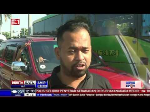 Ribuan Buruh di Bekasi Berangkat ke Jakarta