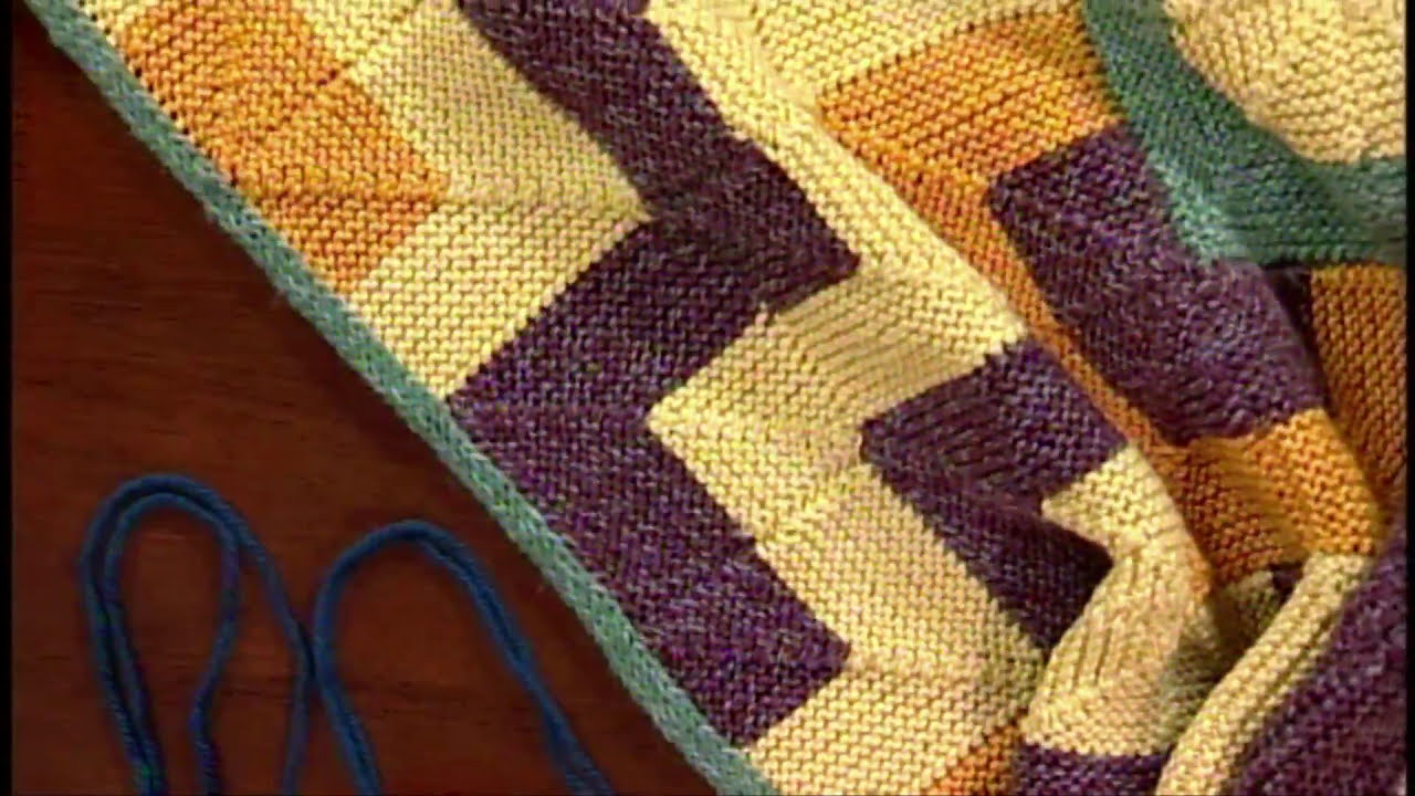 Knitting Joining Live Stitches : How to Knit: Join Modular Squares with Eunnu Jang, from Knitting Daily TV Epi...