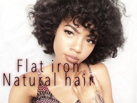 Flat iron Transitioning hair