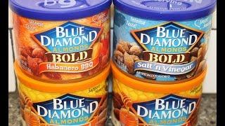 Blue Diamond Almonds: Habanero BBQ, Salt 'n Vinegar, Honey Roasted & Honey Roasted Cinnamon