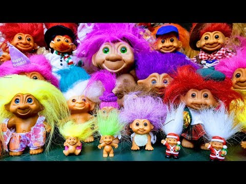 WOW! 2 RARE 50 YEAR OLD TROLL DOLLS! + 90s Troll Collection Review!