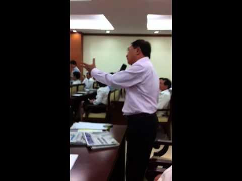 Nguyễn Văn Đực phát biểu trước Trương Tấn Sang