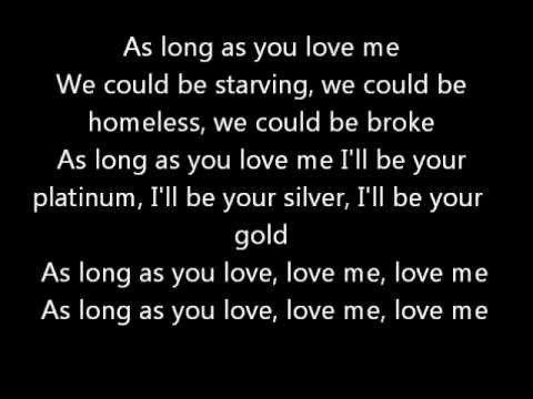 As Long As You Love Me - Justin Bieber Ft. Big Sean - Official Lyrics video