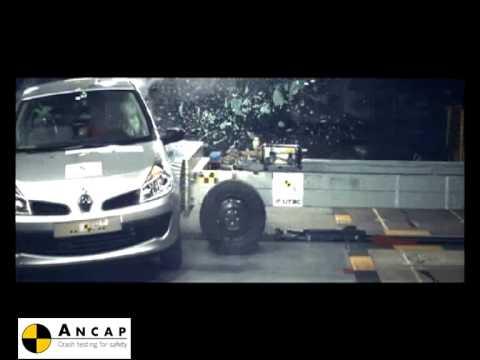 Renault Clio 3 2006 ANCAP Crash Test (5 stars)