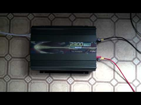 Solar Powered Electric Car Charger. Air Conditioner Test