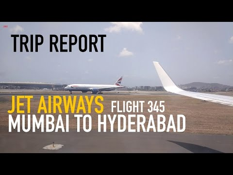 Trip Report: Jet Airways Flight 345 Mumbai CSIA to RGIA Hyderabad