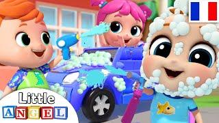 Lavage Auto - Bébé Louis lave ses voitures et camions - Comptines et Chansons