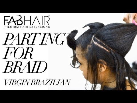 HOW TO PART FOR BRAID DOWN WITH PERIMETER LEAVE OUT - FABHAIR
