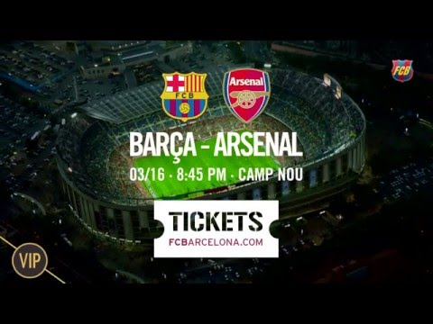 Barça – Arsenal: Live The Most Exclusive Experience. Tickets Available