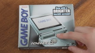 Nintendo Game Boy Advance SP Unboxing | Brighter Screen GBA SP |