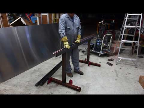 How to make a cheap 72 inch wide sheet metal brake for bending sheet metal