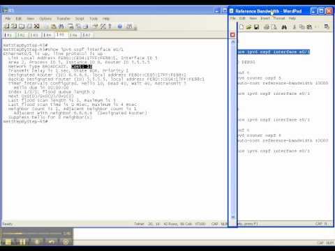 OSPFv3 Video Cheat Sheet: Reference Bandwidth