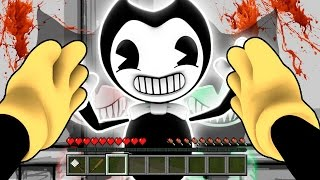 Minecraft Realistic BENDY and the INK MACHINE - BECOMING BENDY & BORIS !? - (Minecraft Bendy Mod)